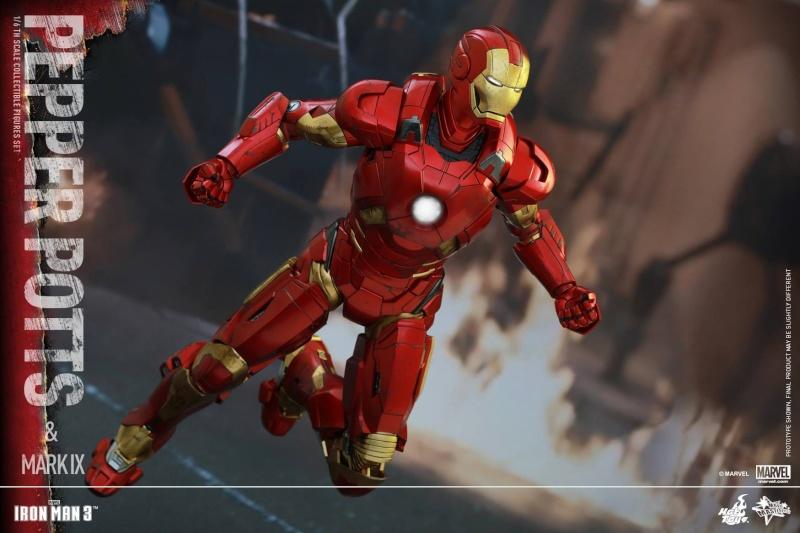 HOT TOYS -  Iron Man 3 - Pepper Potts & Mark IX 11224311