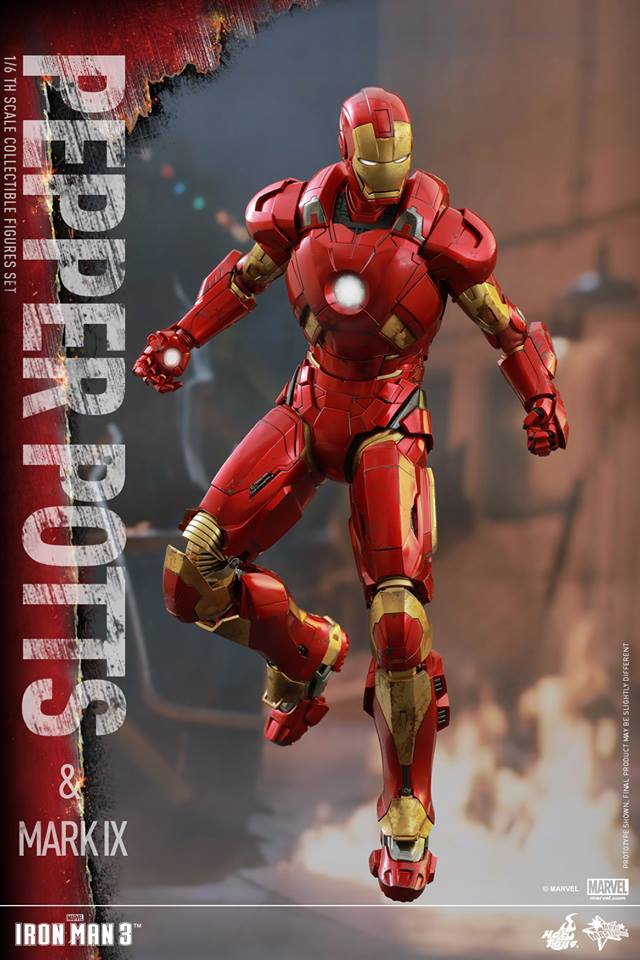 HOT TOYS -  Iron Man 3 - Pepper Potts & Mark IX 11693810