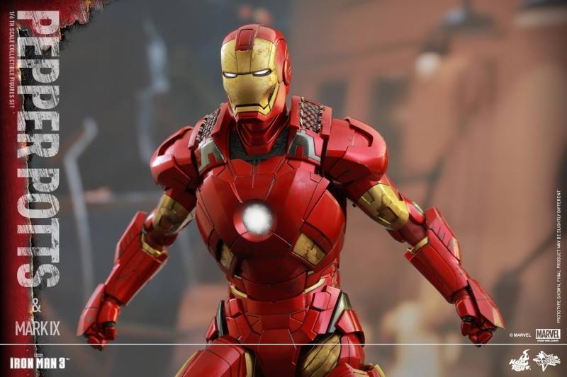 HOT TOYS -  Iron Man 3 - Pepper Potts & Mark IX 11707910