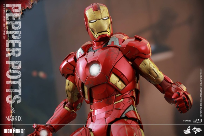 HOT TOYS -  Iron Man 3 - Pepper Potts & Mark IX 11709912