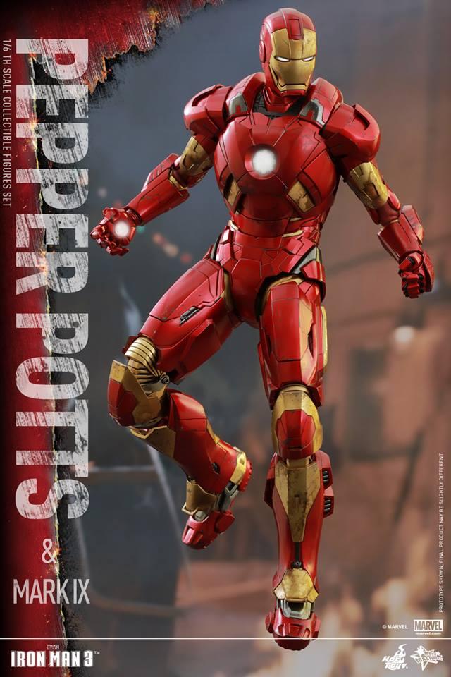 HOT TOYS -  Iron Man 3 - Pepper Potts & Mark IX 11751810