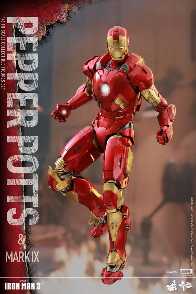 HOT TOYS -  Iron Man 3 - Pepper Potts & Mark IX 11755210