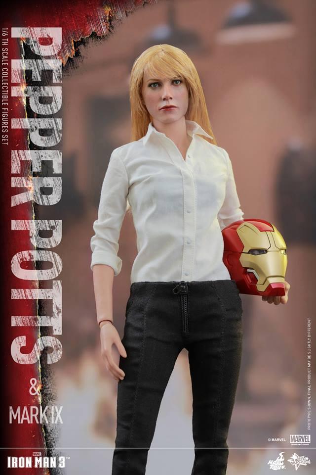 HOT TOYS -  Iron Man 3 - Pepper Potts & Mark IX 11755810