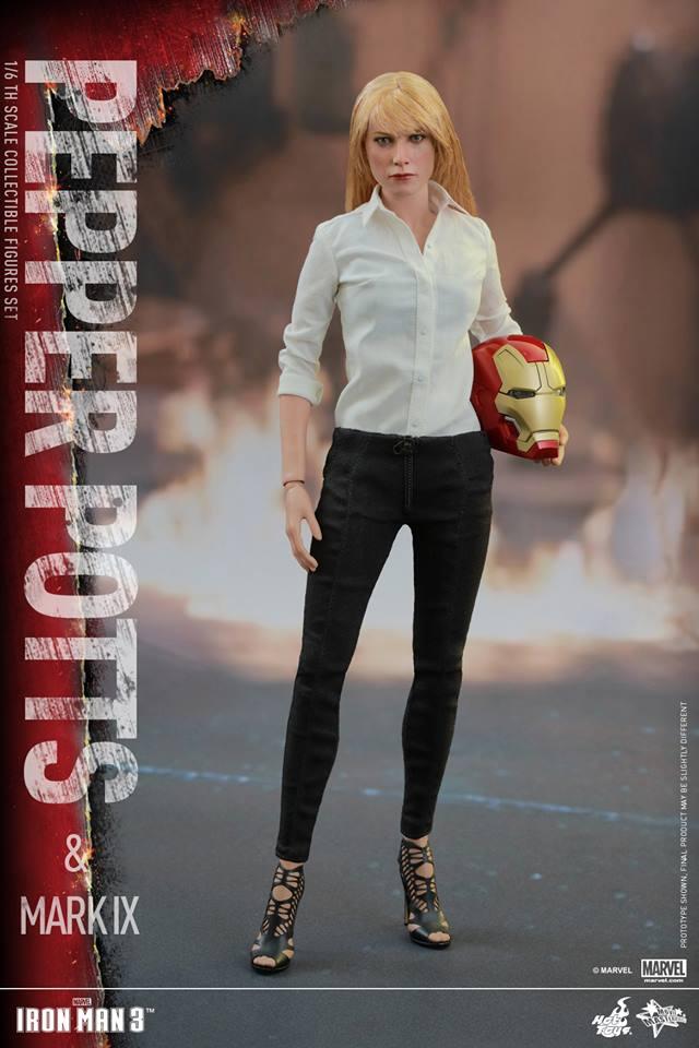 HOT TOYS -  Iron Man 3 - Pepper Potts & Mark IX 11760210