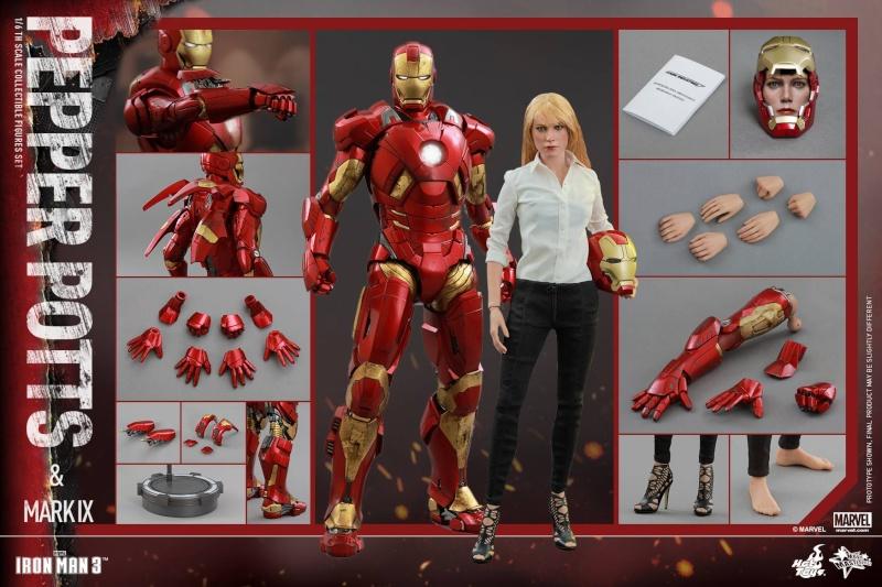 HOT TOYS -  Iron Man 3 - Pepper Potts & Mark IX 11782210