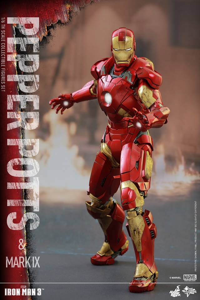 HOT TOYS -  Iron Man 3 - Pepper Potts & Mark IX 14389_10