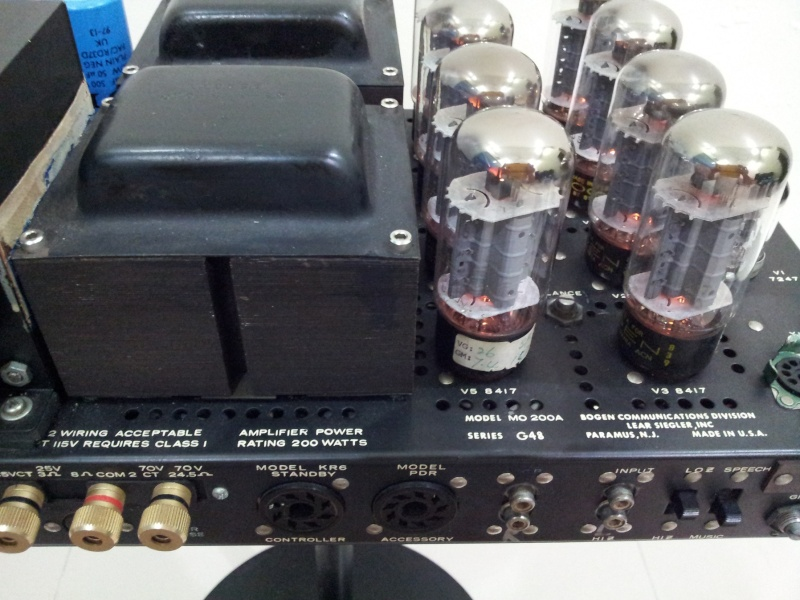 Vintage Bogen MO-200A Stereo 100 Watts Vacuum Tube Power Amplifier  ( Used) 20150840