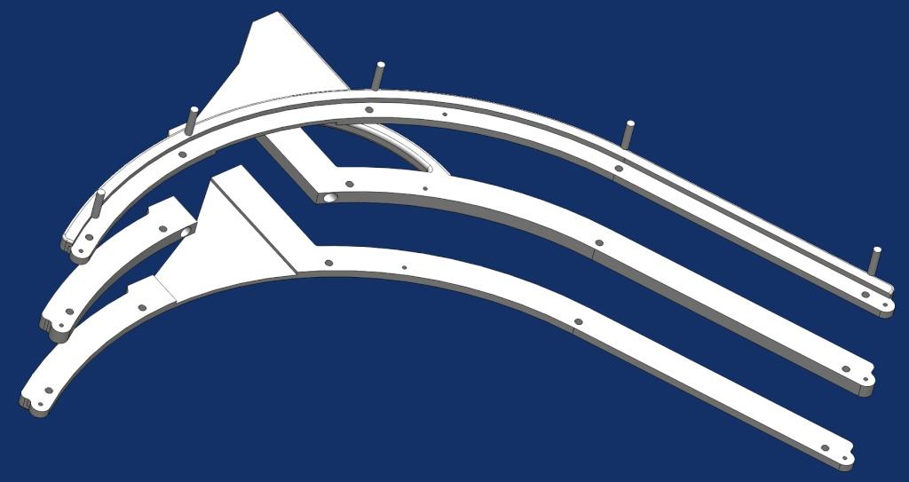 Cape suspendue et commandes déportées pour scie à format. Sans_t25