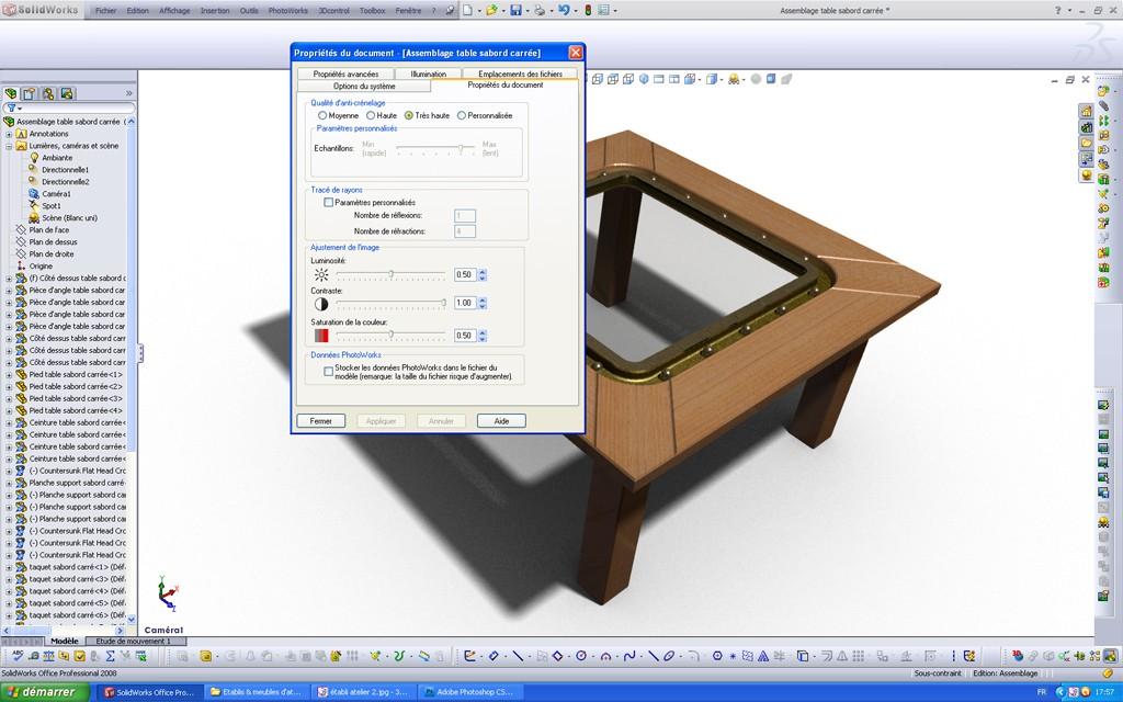 [SolidWorks] Les rendus sous PhotoWorks. Tuto_p22