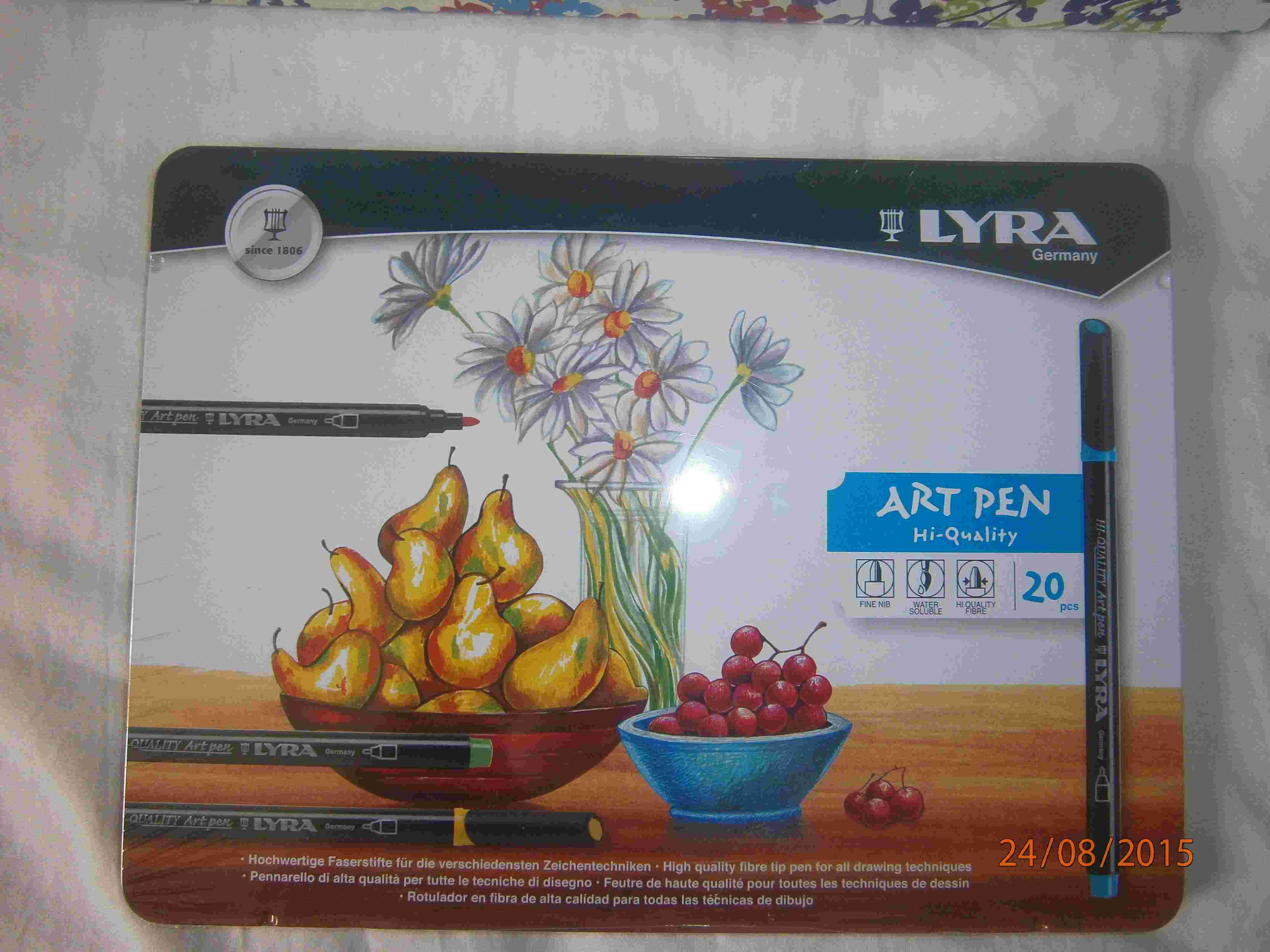 Les feutres Lyra et Edding P8240018