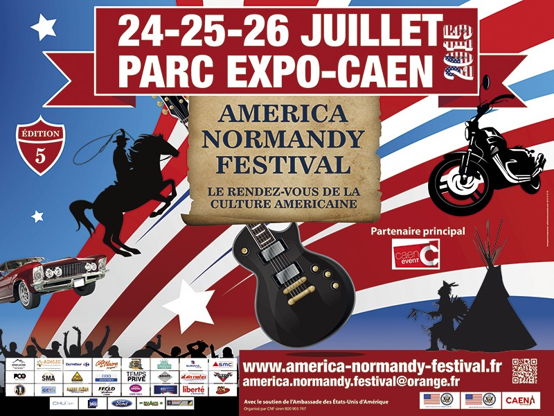 AMERICA NORMANDY FESTIVAL  Affich10