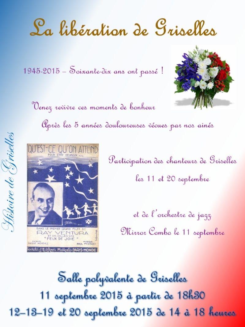 la libération de Griselles en août 1944 Affich10