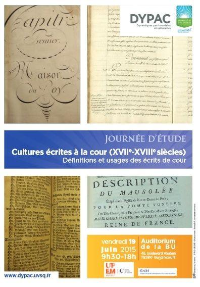 Cultures écrites à la Cour de France / Archiver la Cour Cultur10