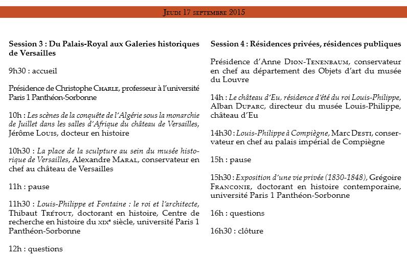 """CRCV Journées d'études """"Louis-Philippe"""" J_ytud11"""