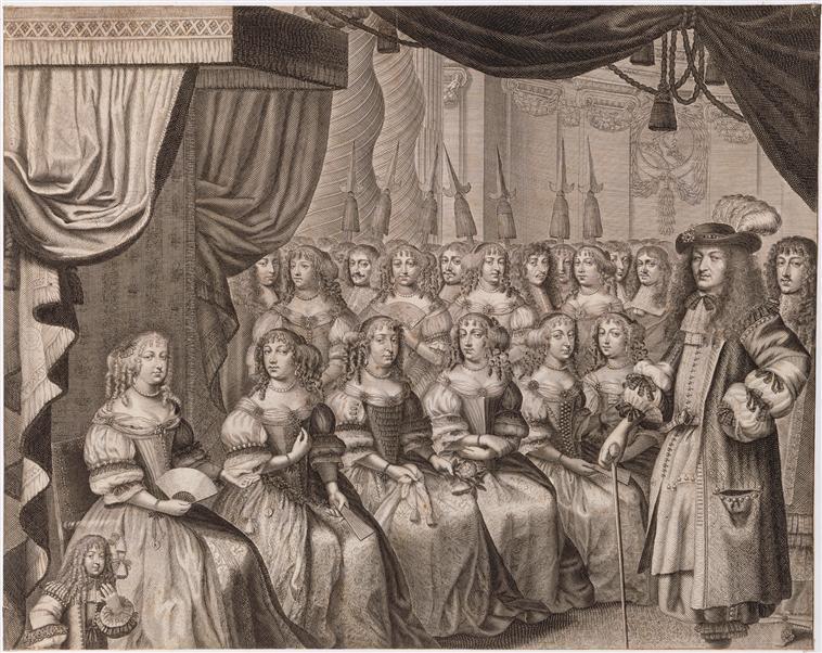 Femmes à la cour de France – charges et fonctions Louis_11