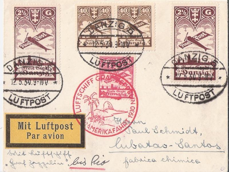 nach - Südamerikafahrt 1930, Post nach Rio de Janeiro - Seite 2 Danzig10