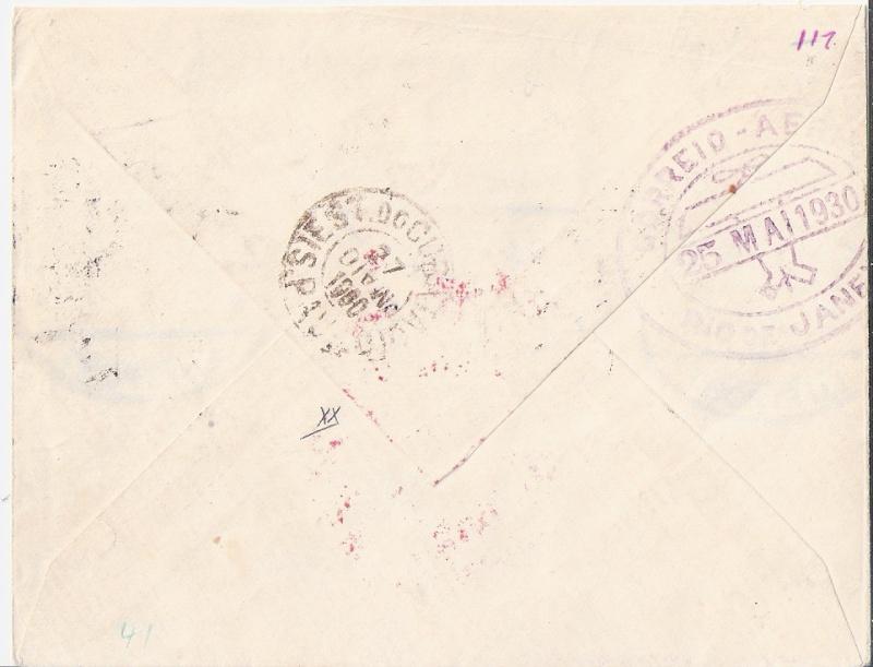 nach - Südamerikafahrt 1930, Post nach Rio de Janeiro - Seite 2 Danzig12