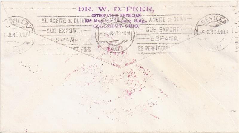 nach - Südamerikafahrt 1930, Post nach Sevilla - Seite 2 Peer_b10