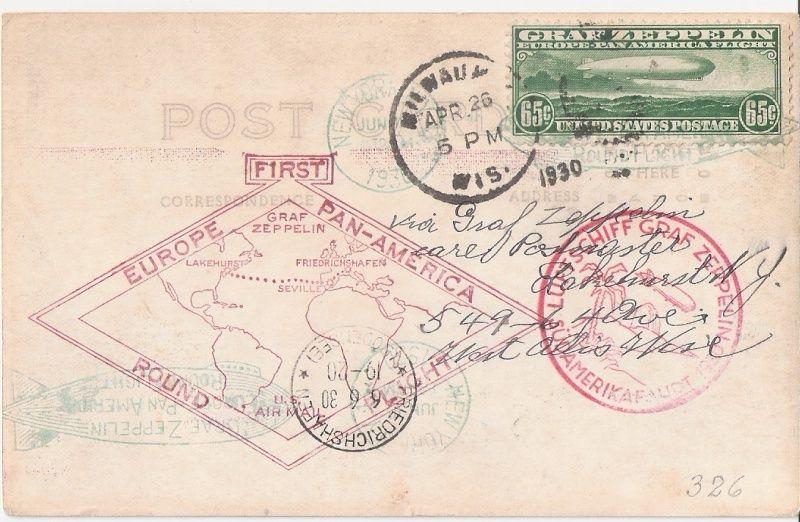 """Südamerikafahrt 1930 (Rundfahrt-) Post nach Friedrichshafen"""" - Seite 5 Sa30_m10"""