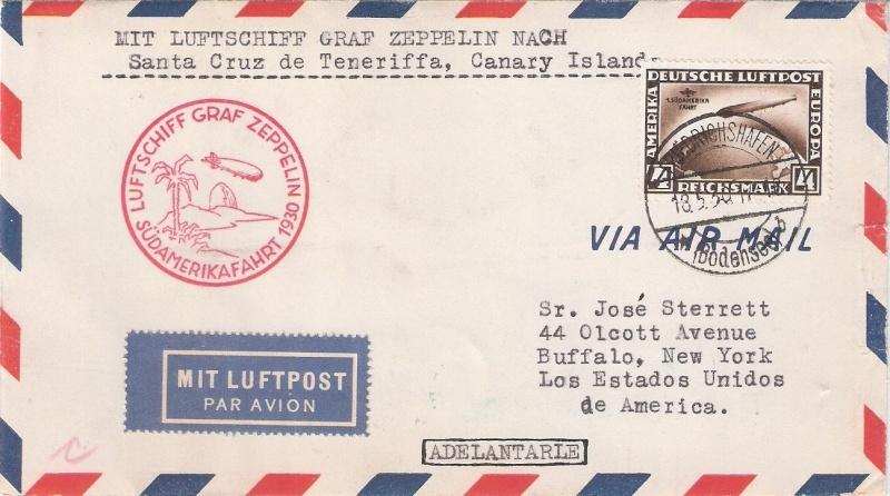 nach - Südamerikafahrt 1930, Post nach Praia (Kapverdische Inseln) Santac10