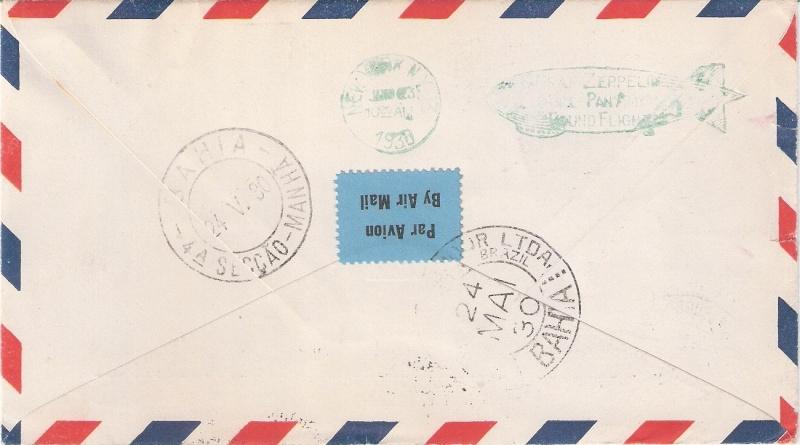 nach - Südamerikafahrt 1930, Post nach Praia (Kapverdische Inseln) Santac11