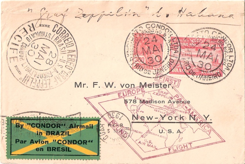 nach - Südamerikafahrt 1930, Post nach Praia (Kapverdische Inseln) Scanne13
