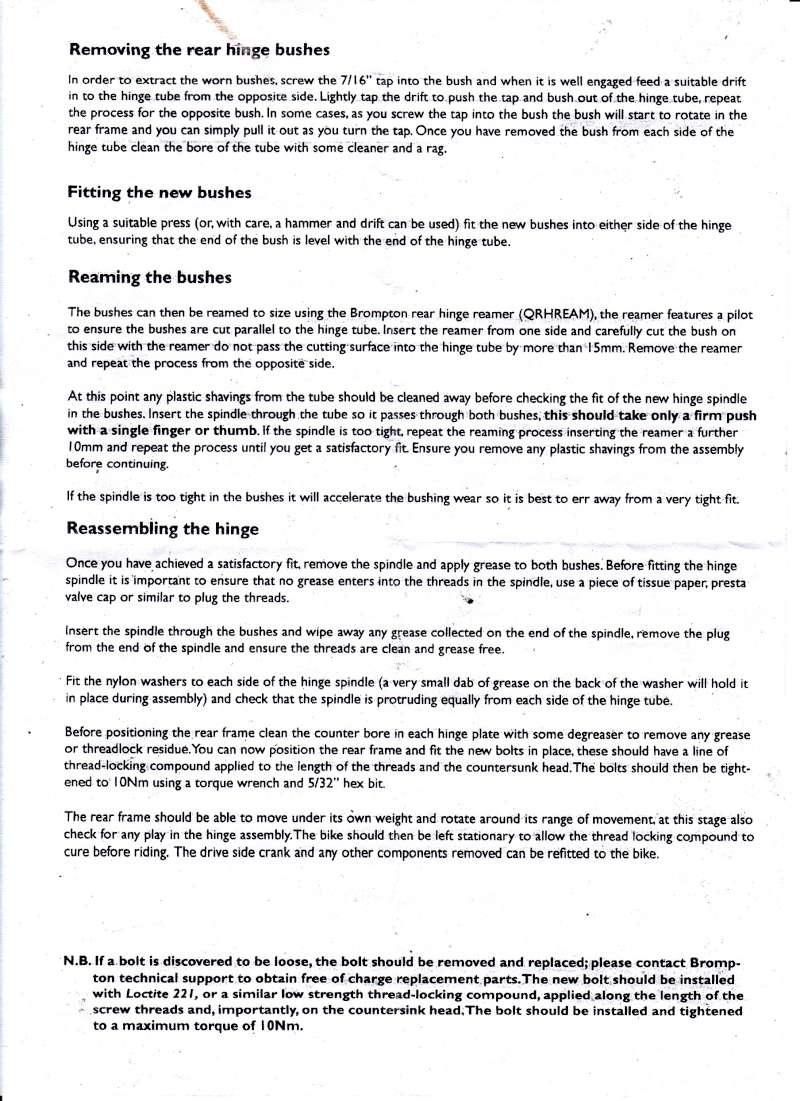 Triangle arrière : remplacement de l'axe et des paliers - Page 2 Brompt11