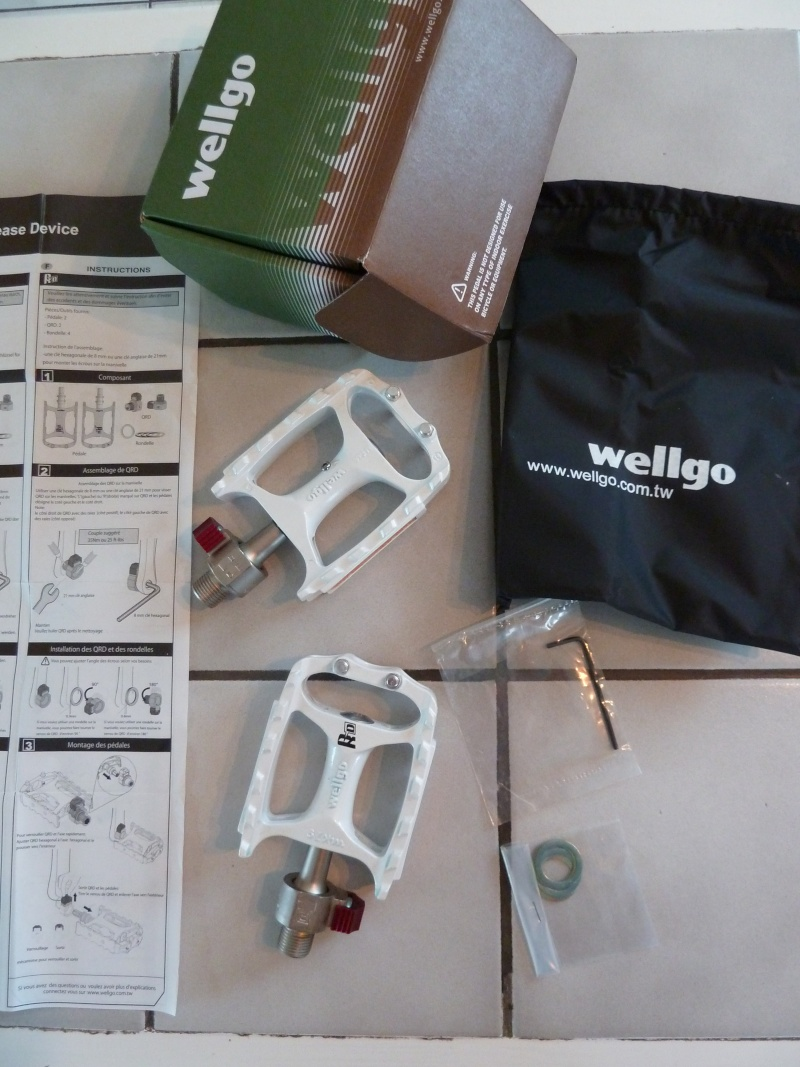 Pédales amovibles Wellgo P1090610