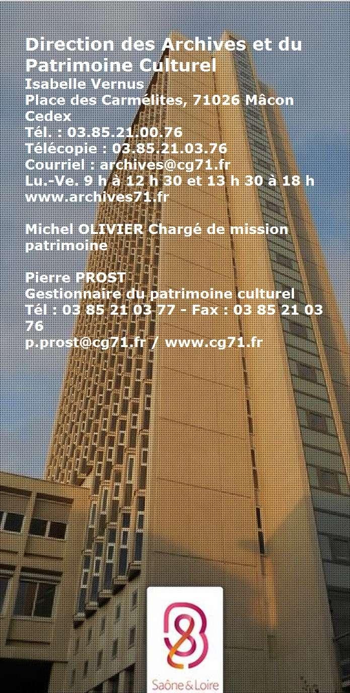 Direction des archives et  du Patrimoine Culturel de Saône et Loire Archiv11