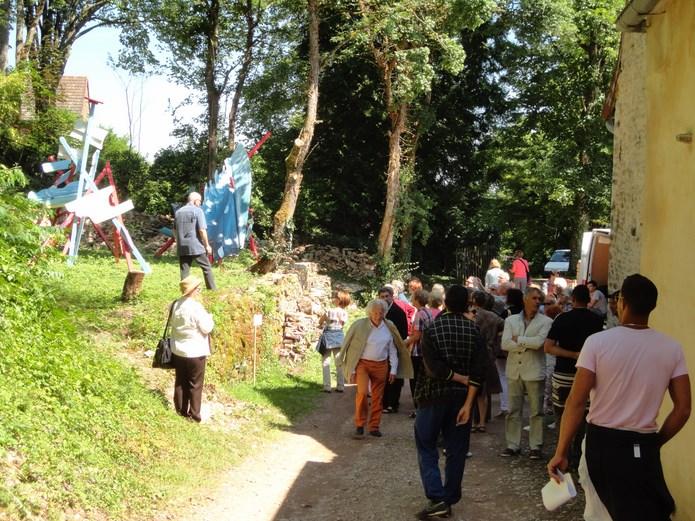 Inauguration des sentiers de la sculpture 2015 à Brancion - mercredi 17 juin à 11 heures Dsc02710