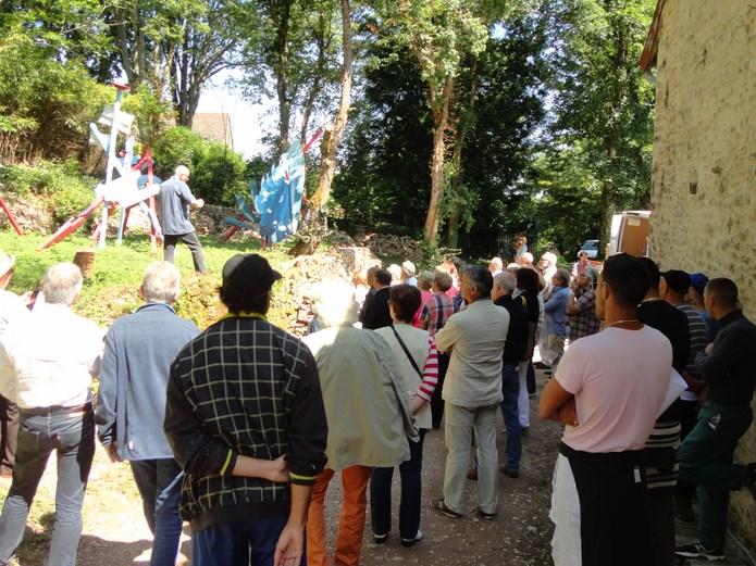 Inauguration des sentiers de la sculpture 2015 à Brancion - mercredi 17 juin à 11 heures Dsc02711