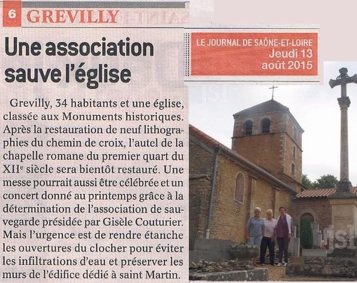 GREVILLY Une association pour préserver et restaurer l'église Grevil13