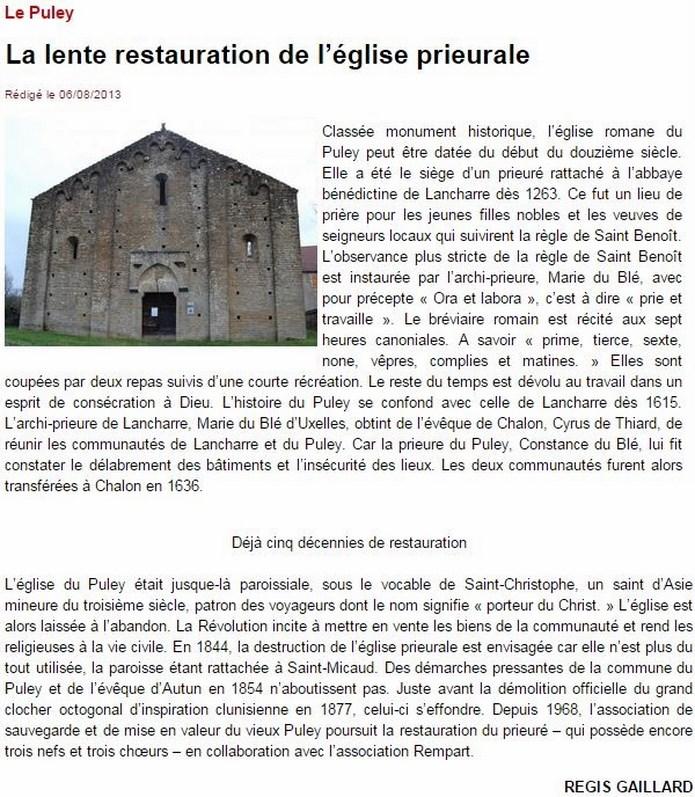 ASSOCIATION DE SAUVEGARDE ET MISE EN VALEUR DU PRIEURE DU PULEY Le_pul10