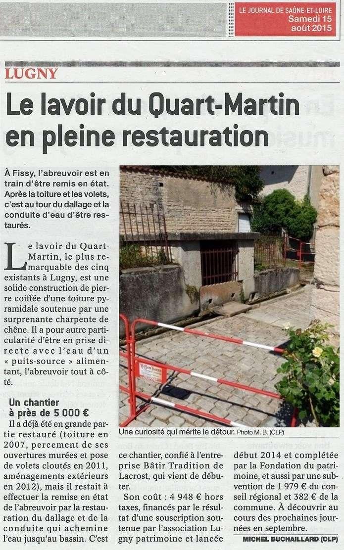LUGNY : Le lavoir du Quart-Martin en pleine restauration Lugny_19