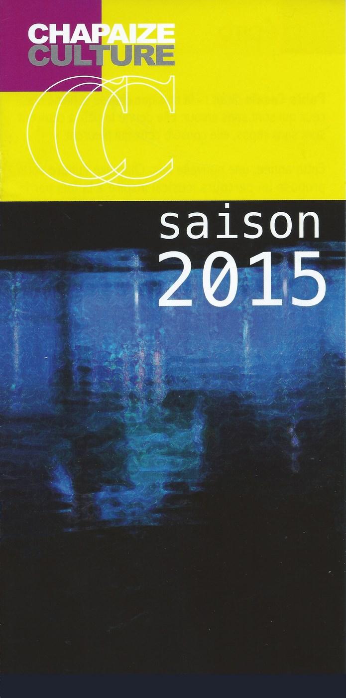 PROGRAMME CHAPAIZE CULTURE 2015 Saison10