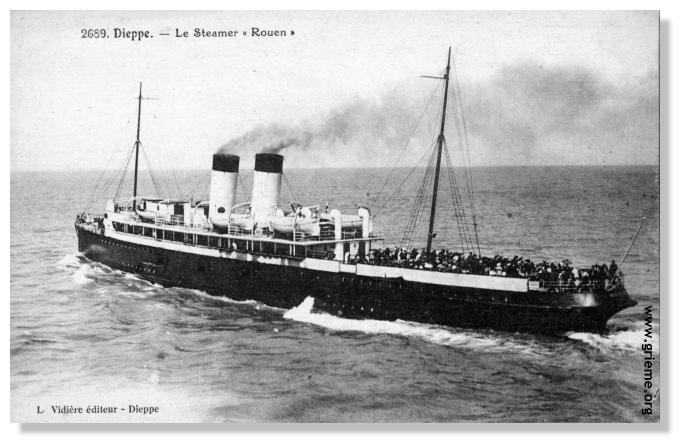 Navires français à Ostende mai 1940 Rouen211