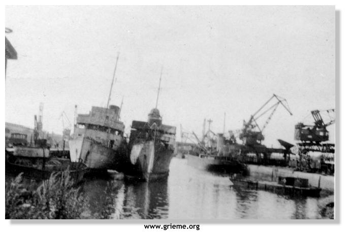 Navires français à Ostende mai 1940 Rouen410