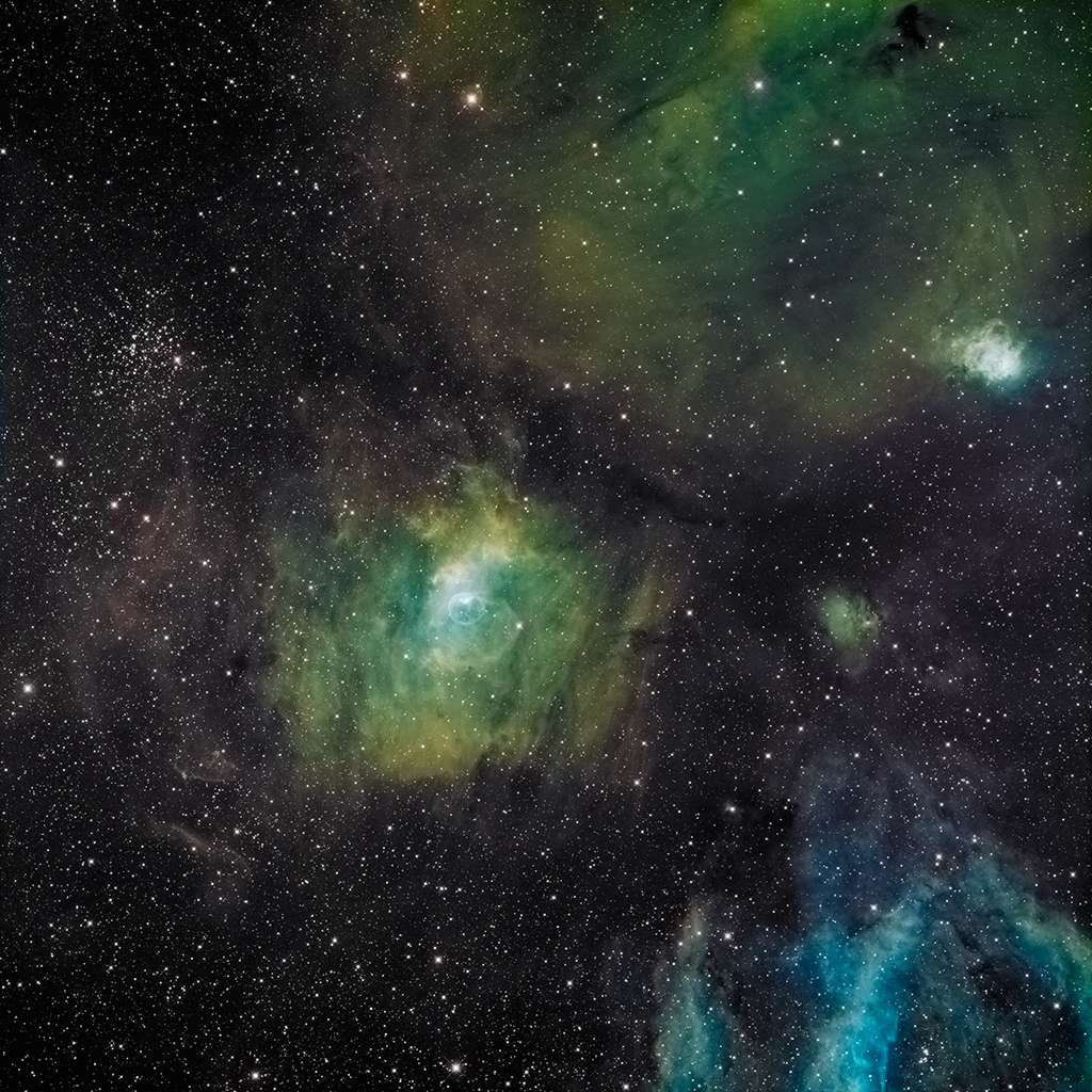 NGC7635 au CCA250, SHO 35H de pose Ngc76312