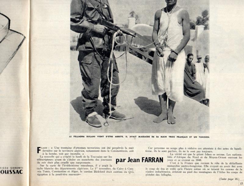 PARIS MATCH 6 NOVEMBRE 1954, article prémonitoire Img47111