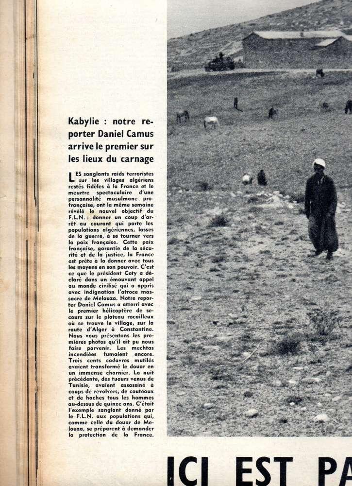 MASSACRE DE MELOUZA  PARIS-MATCH 27 juin 1954 Img_4810