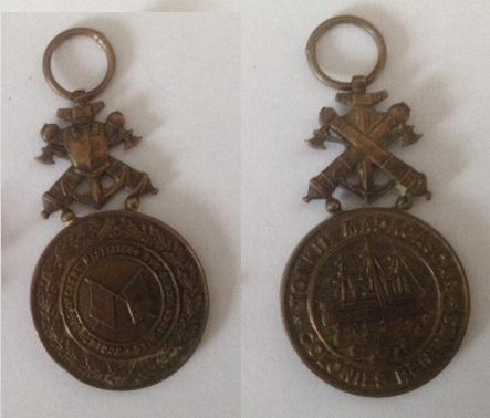 médaille de la socièté des anciens militaires des colonies TERMINE Ancien10