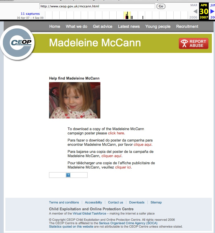 "Claim by 'Stevo' - ""CEOP show Maddie is missing on 30th April 2007"" Ceops_10"