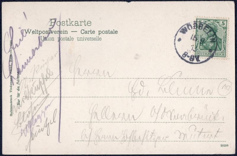 Mecklenburg und Pommern auf Ansichtskarten 1913-011