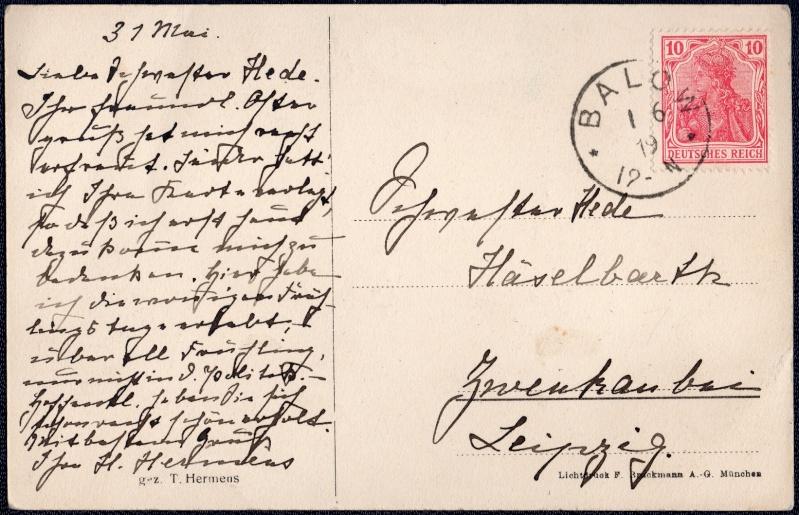 Mecklenburg und Pommern auf Ansichtskarten 1919-011