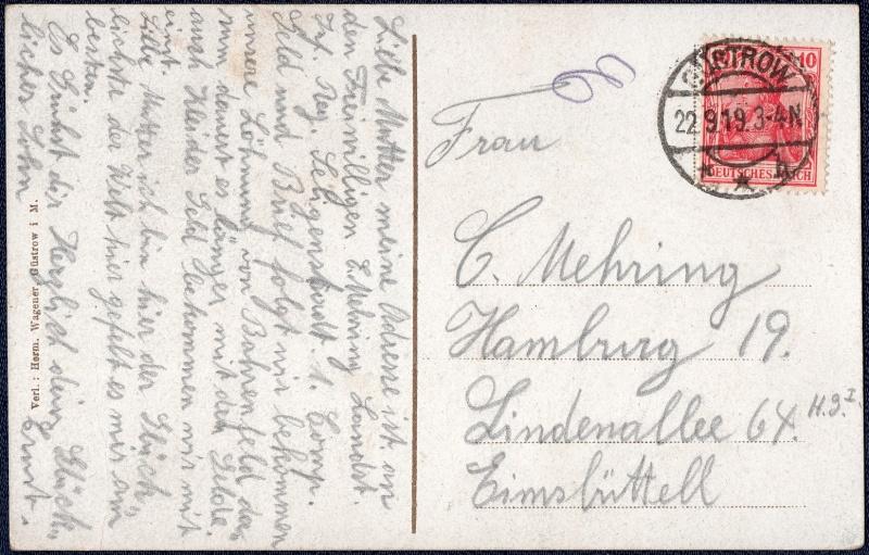Mecklenburg und Pommern auf Ansichtskarten 1919-013