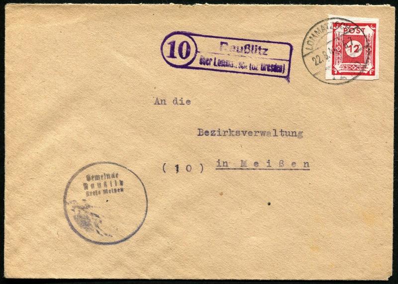 1945 - Deutschland  -  Landpoststempel (Poststellenstempel) Postst15