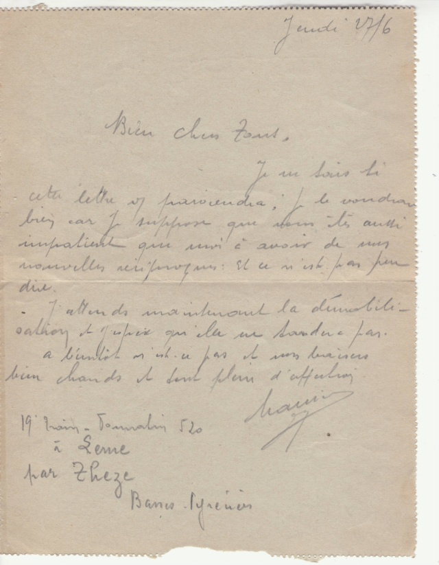 """Cachet """"COMMISSION DE CONTROLE POSTAL DE LA REGION DE PARIS"""" sur lettre FM du 28 juin 40. _ua_ci12"""