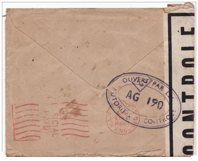 censure de la 3°période AG 190  sur lettre de Liège pour Paris. Ag_19011