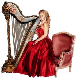 Défi/ Femme à la harpe 19041610