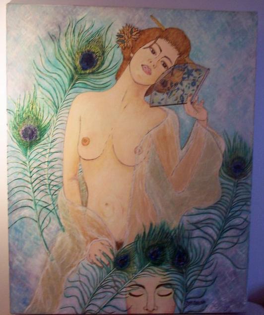 Femme aux plumes de paon Ar6b11